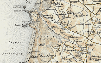 Old map of Ellenglaze in 1900