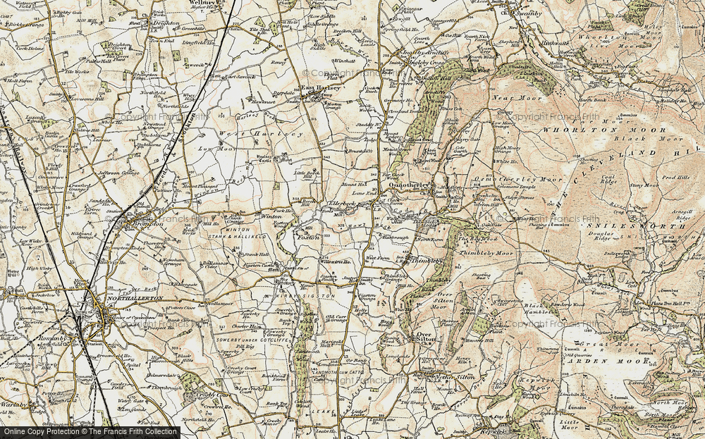 Old Map of Historic Map covering Lane End in 1903-1904
