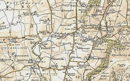 Old map of Lane End in 1903-1904