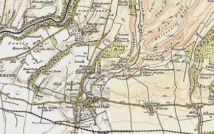 Old map of Wilton Heights Plantn in 1903-1904
