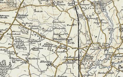 Old map of Windy Oak in 1902