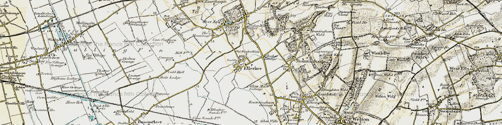 Old map of Westlands in 1903-1908