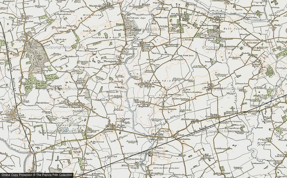 Old Map of Ellerton, 1903 in 1903