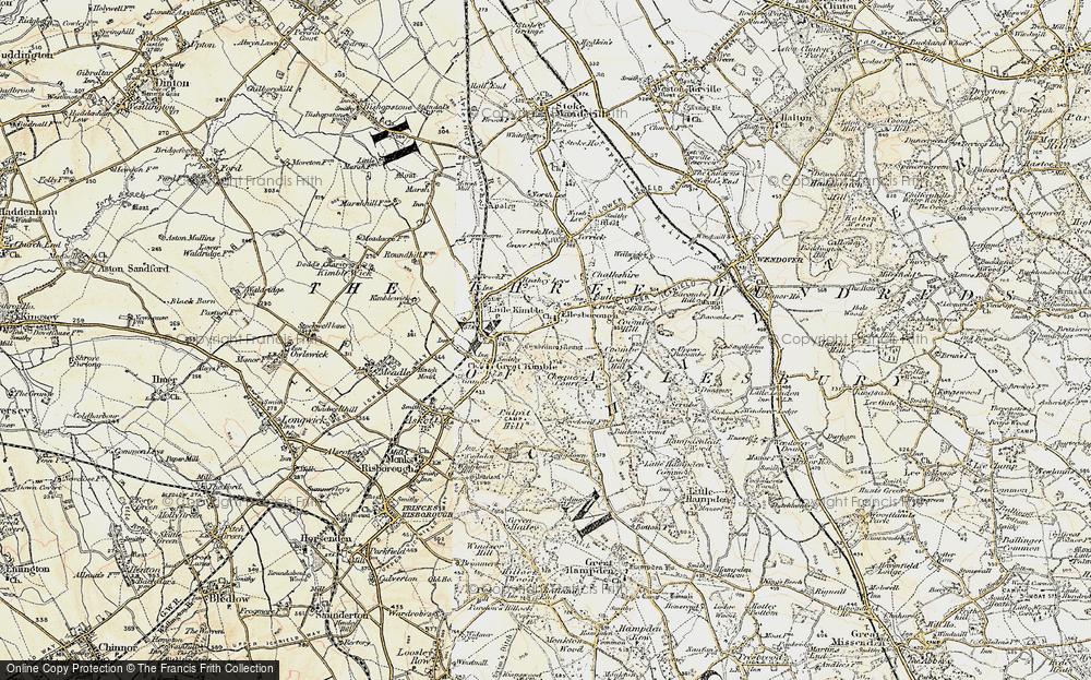 Old Map of Ellesborough, 1898 in 1898