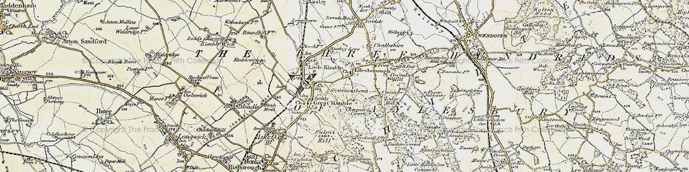 Old map of Ellesborough in 1898