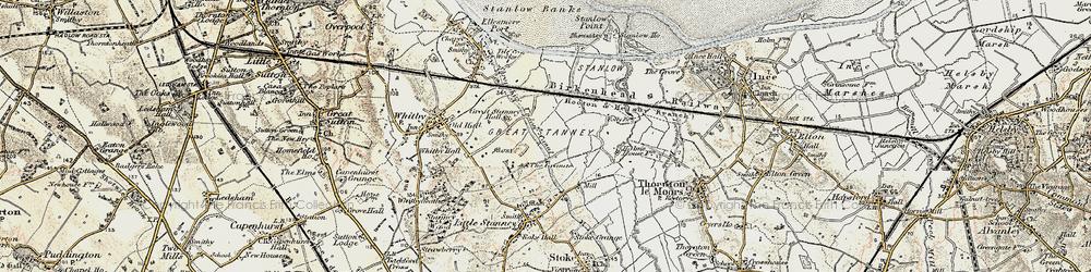 Old map of Ellesmere Port in 1902-1903