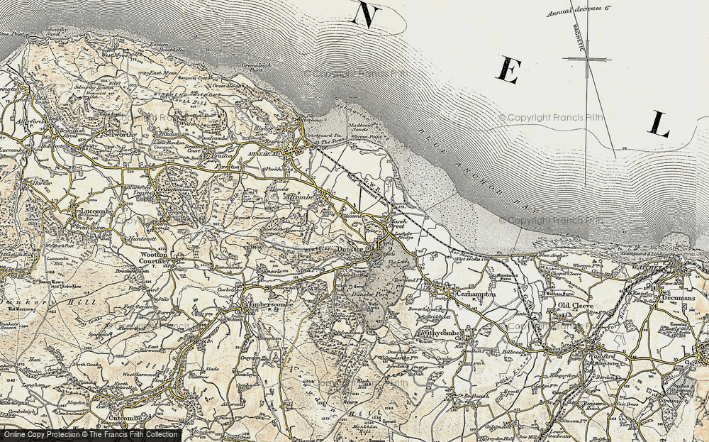 Old Map of Historic Map covering Aldersmead in 1898-1900