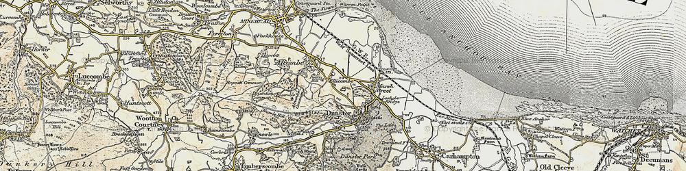 Old map of Aldersmead in 1898-1900
