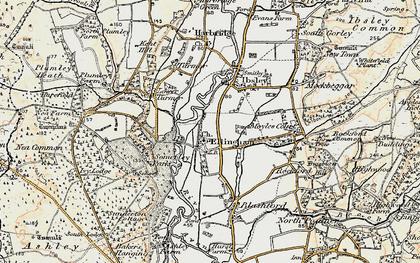 Old map of Ellingham in 1897-1909