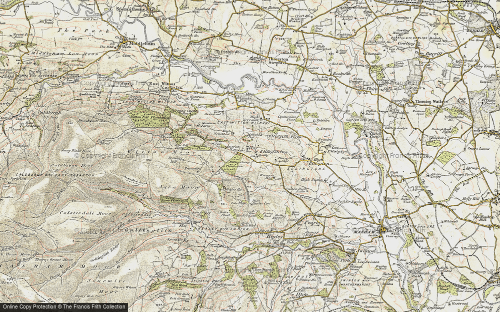 Old Map of Ellingstring, 1903-1904 in 1903-1904