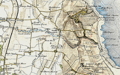 Old map of Ellington in 1901-1903