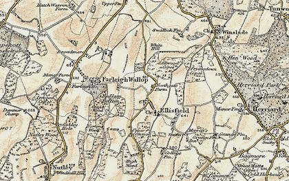 Old map of White Hill in 1897-1900