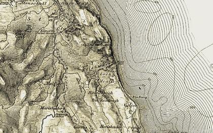 Old map of Ellishadder in 1908-1909