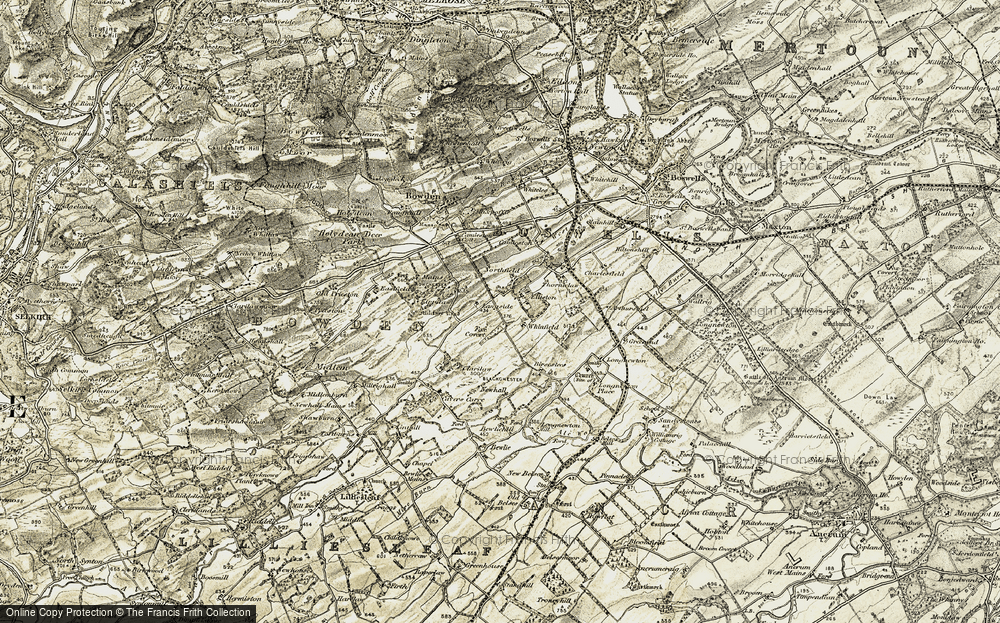 Old Map of Historic Map covering Langside in 1901-1904