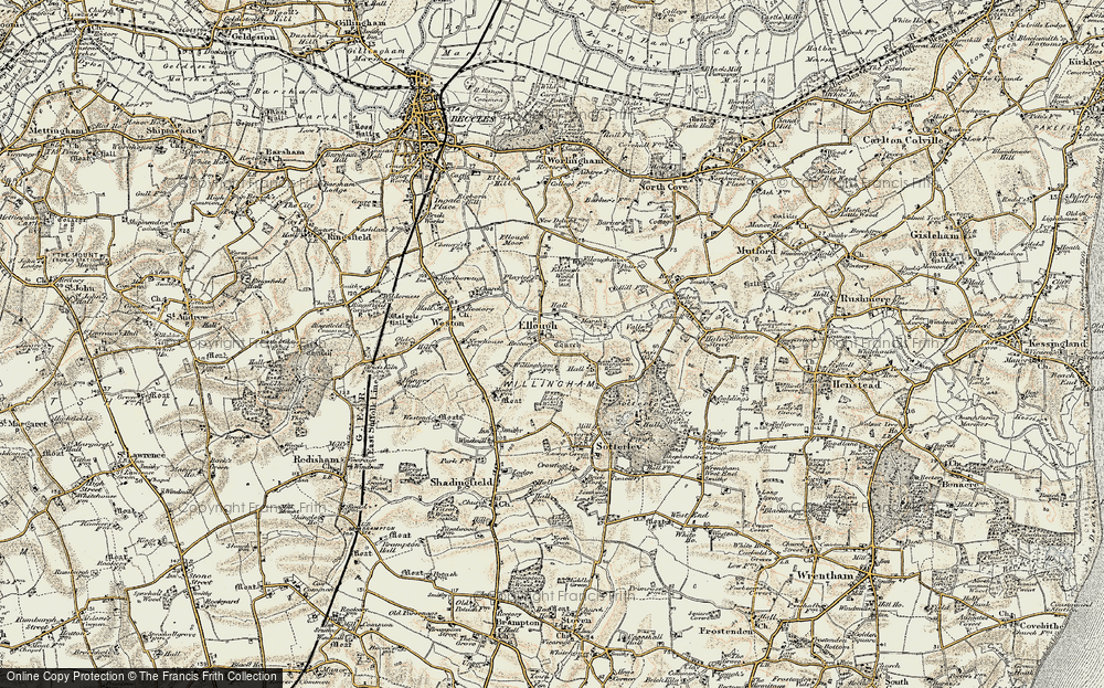 Old Map of Historic Map covering Likely Wood in 1901-1902