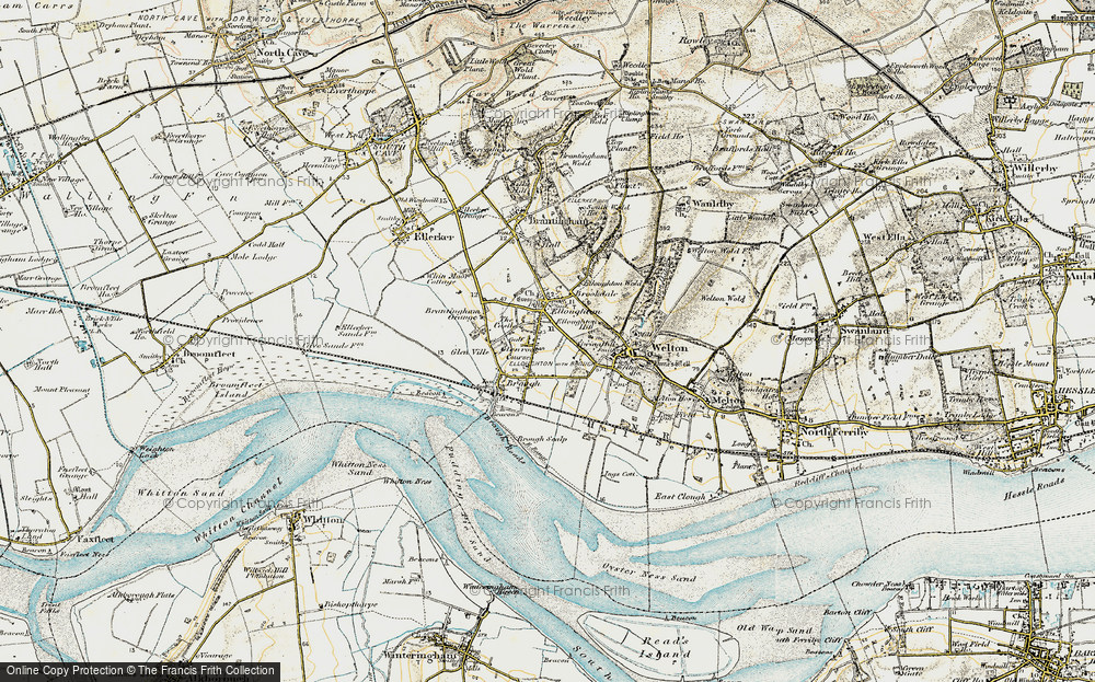 Old Map of Elloughton, 1903-1908 in 1903-1908