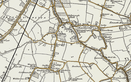 Old map of Elm in 1901-1902