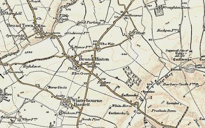 Old map of Elm Cross in 1897-1899