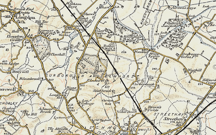 Old map of Lea Grange in 1902