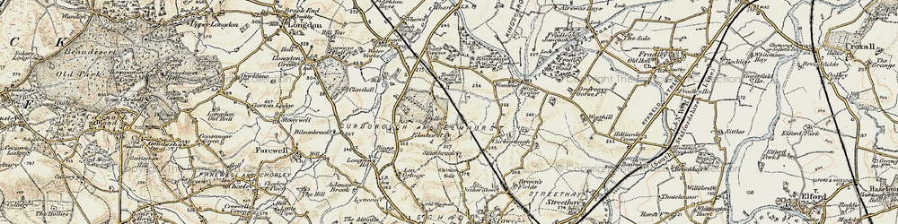 Old map of Tomhay Wood in 1902