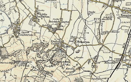 Old map of Elmley Castle in 1899-1901