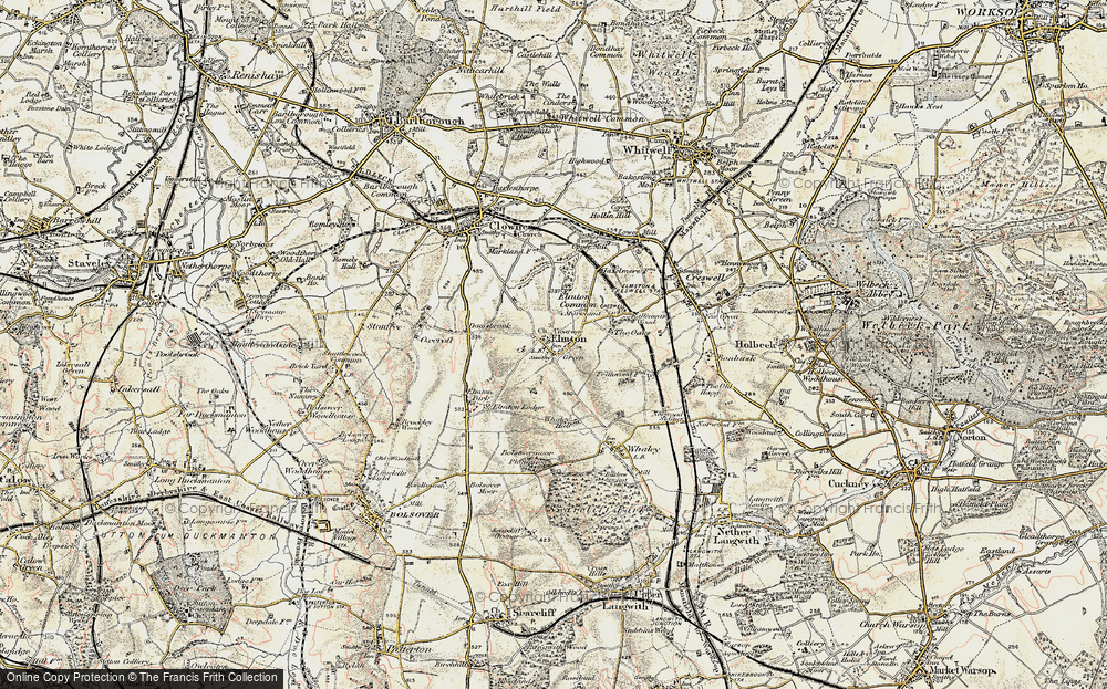 Old Map of Elmton, 1902-1903 in 1902-1903