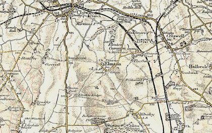 Old map of Whaley Hall in 1902-1903