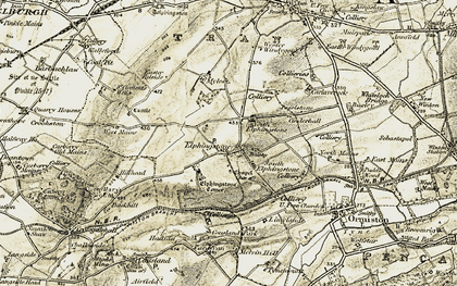 Old map of Elphinstone in 1903-1904
