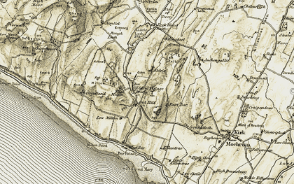 Old map of Auchengallie in 1905