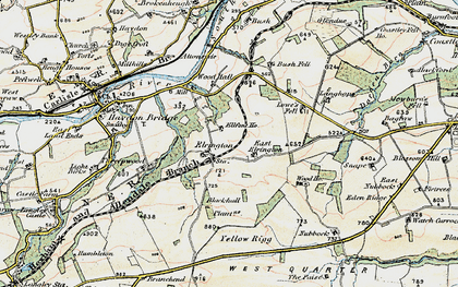 Old map of West Nubbock in 1901-1904