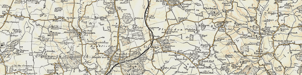Old map of Alsa Wood in 1898-1899
