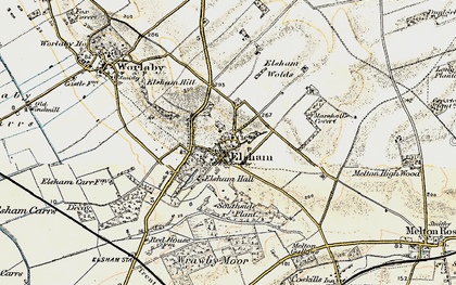Old map of Wrawby Moor in 1903-1908