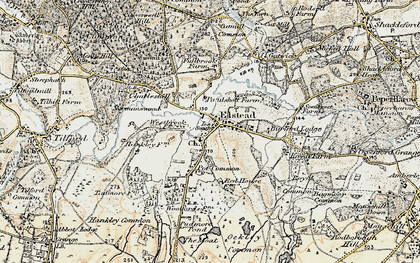 Old map of Elstead in 1897-1909