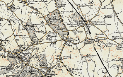 Old map of Aldenham Resr in 1897-1898