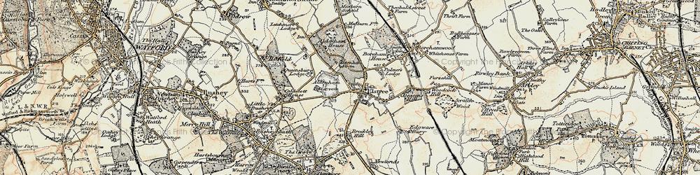 Old map of Aldenham Resr in 1897-1898