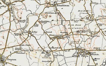 Old map of Lelley Grange in 1903-1908