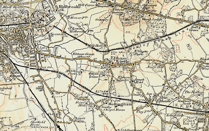 Old map of Eltham in 1897-1902