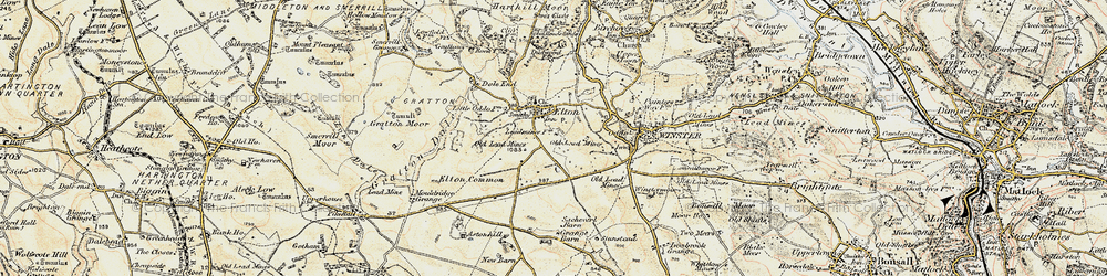 Old map of Elton in 1902-1903