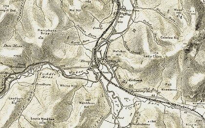 Old map of Toddle Moss in 1904-1905