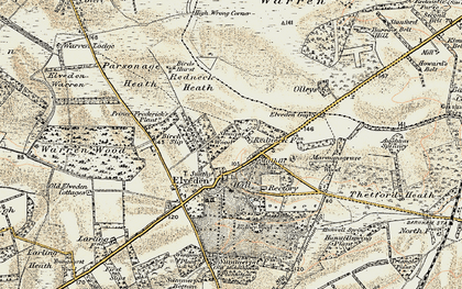 Old map of Westgouch Plantn in 1901
