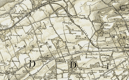 Old map of Laverocklaw in 1903-1906