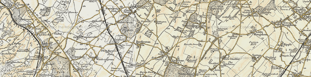 Old map of Elvington in 1898-1899