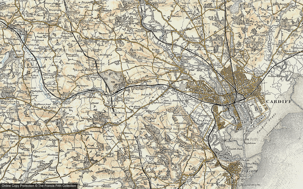 Old Map of Ely, 1899-1900 in 1899-1900