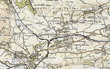 Old map of Embsay in 1903-1904