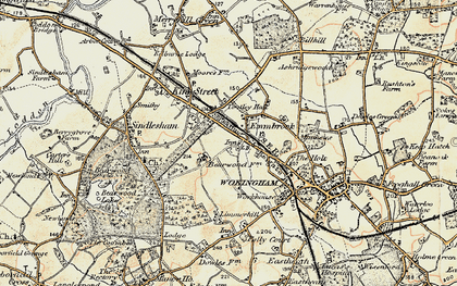Old map of Woose Hill in 1897-1909