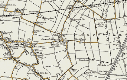 Old map of Titkill Br in 1901-1902