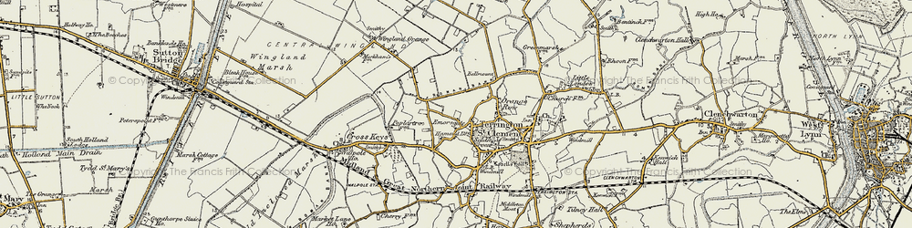 Old map of Wingland Grange in 1901-1902