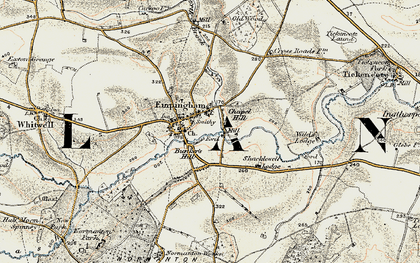 Old map of Empingham in 1901-1903