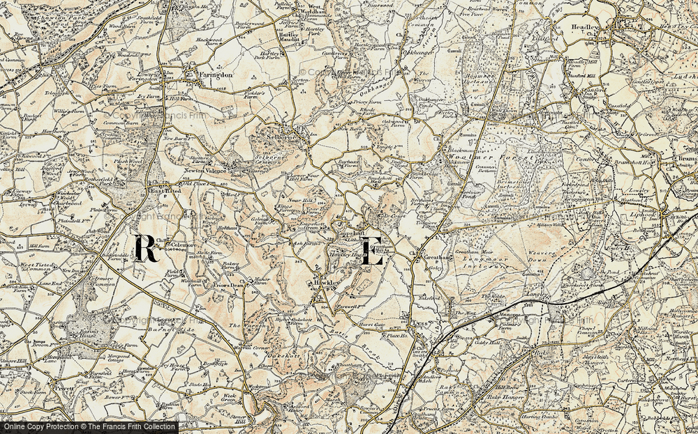 Old Map of Historic Map covering Le Court in 1897-1900