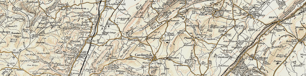 Old map of Yell Bank in 1902